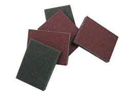 "4""x2-5/8""x1/2"" 1-Sided Abrasive Flex Pad 70860"