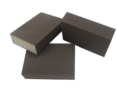 "4""x3""x1"" 4-Sided Abrasives Sanding Block-10 Pack 70869"