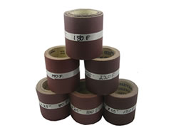 "4-1/2""x25 ft Heavy ""F""Weight Aluminum Oxide Paper Rolls 01475"