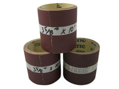 "3-5/8""x25 ft Heavy ""F"" Weight Aluminum Oxide Paper Rolls 01495"
