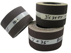 "3""x35 ft 80 grit Poly/Cotton Drum Sanding Rolls 01568"