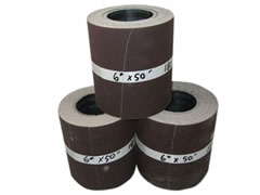 "6""x50 ft 220 grit Poly/Cotton Drum Sanding Rolls 01584-220"