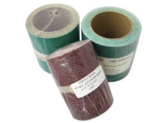 "4-1/2""x25 ft Sticky Back Heavy ""F"" Weight Aluminum Oxide Paper Roll 01480"